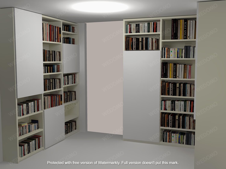 Progetto camera da letto libreria su misura 3D Wedomo Seregno Monza e Brianza Milano