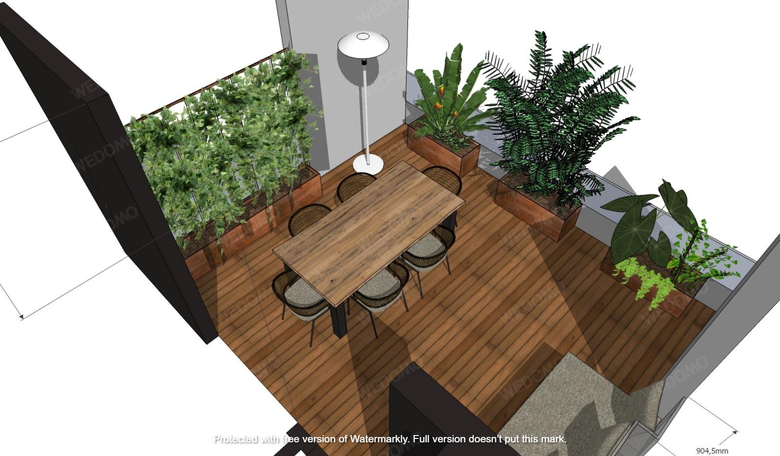 Progettazione 3D terrazzo Seregno Monza Milano