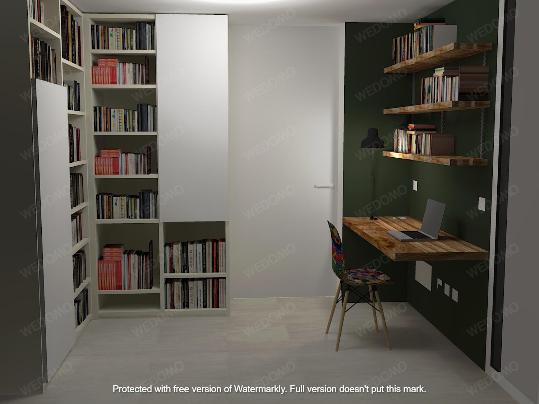 Progetto 3D studio libreria su misura Wedomo Seregno Monza e Brianza Milano