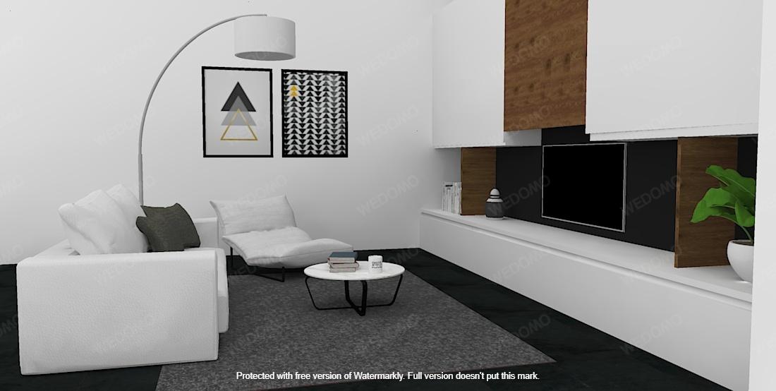 progtto 3D soggiorno su misura Seregno Monza e Brianza Milano