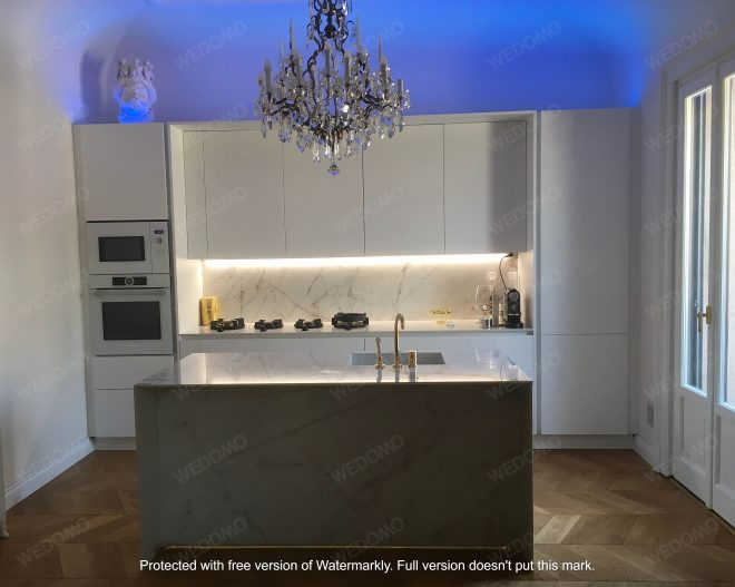 Cucina moderna appartamento vecchio Milano Wedomo